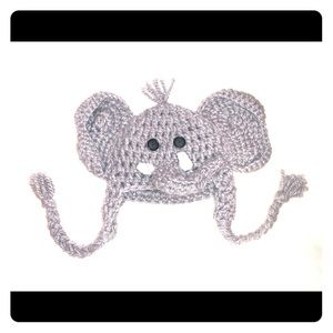 Hand knitted Elephant hat 0-3m